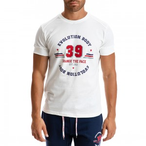 T-shirt Evolution Body White 2302