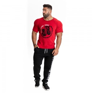 Short sleeve sweatshirt Evolution Body Red 2275R