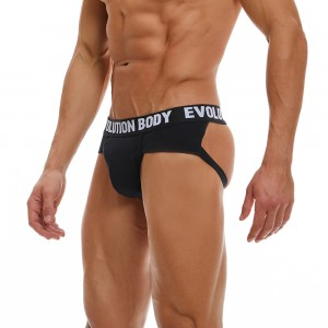 Briefstrap Underwear Evolution Body Black 7011
