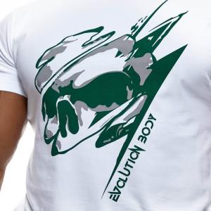 T-shirt Evolution Body White-Green 2462WHITE-GREEN