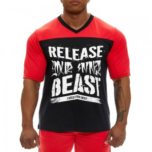 Short sleeve sweatshirt Evolution Body 2360RED