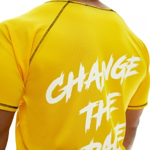 Short sleeve sweatshirt Evolution Body Yellow 2359YELLOW