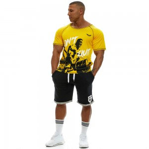 Short sleeve sweatshirt Evolution Body Yellow 2359YELLOW