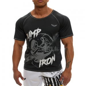 Short sleeve sweatshirt Evolution Body Black 2366BLACK