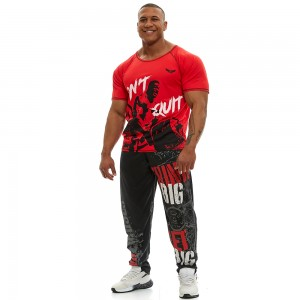 Short sleeve sweatshirt Evolution Body Red 2359RED
