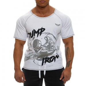 Short sleeve sweatshirt Evolution Body White 2366WHITE