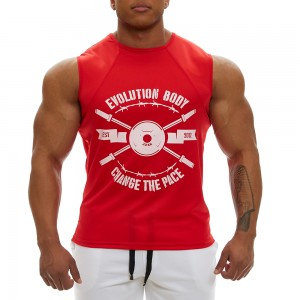 Sleeveless Tank Top Evolution Body Red 2350RED