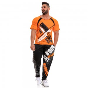 Short Sleeve Sweatshirt Evolution Body Orange 2247orange
