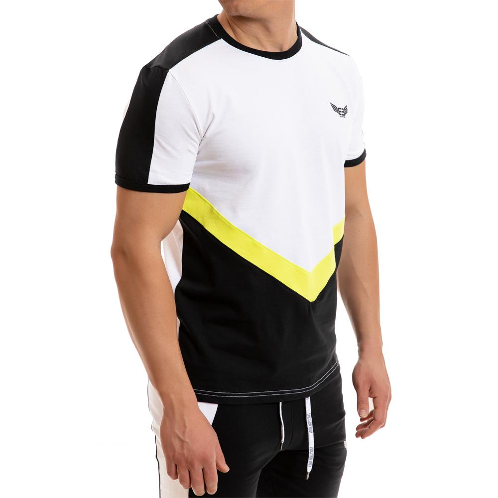c1895d4a5596 ανδρική εφαρμοστή μπλούζα-t shirt σε λευκό