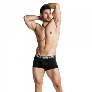 Boxer Brief Underwear Evolution Body Black 7002